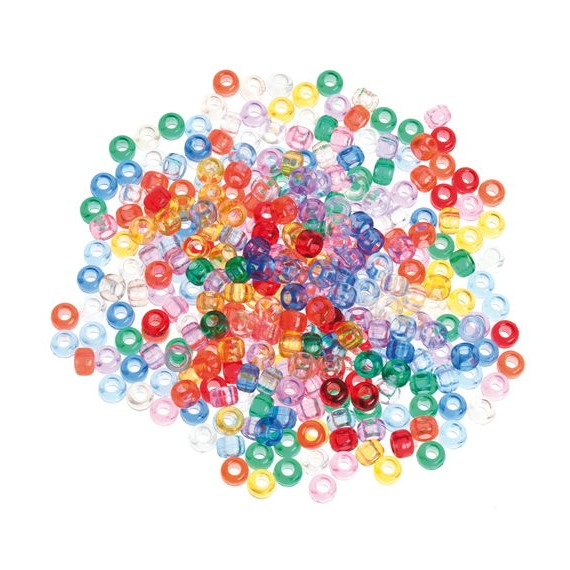 Pack de 600 Cuentas Translúcidas Colores Surtidos