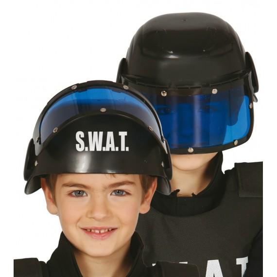 Casco de Policía S.W.A.T. de color Negro Infantil