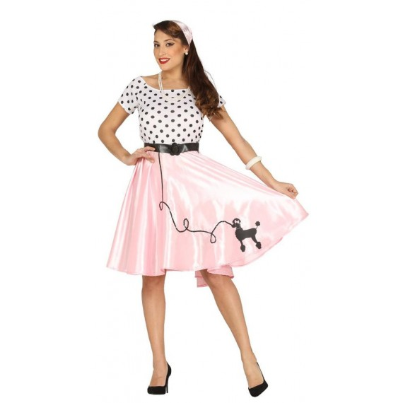 Disfraz de Chica de los años 50s para Adulto