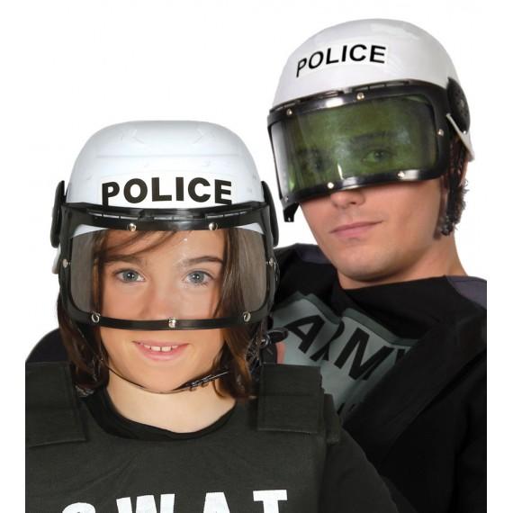 Casco de Policía de color Blanco