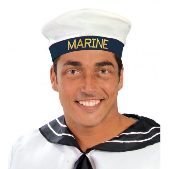 Gorra de Marinero de color Blanco para Adulto