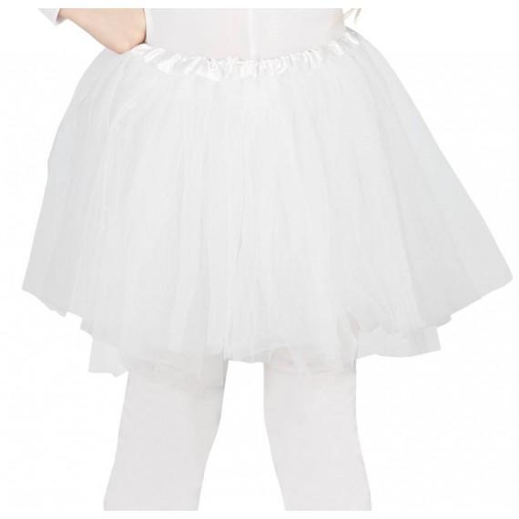 Tutú de 30 Centímetros de color Blanco Infantil