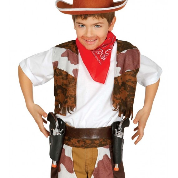 Cartuchera Doble con 2 Pistolas Infantil