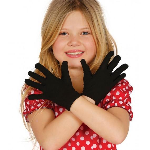 Guantes de color Negro de 17 Centímetros Infantil