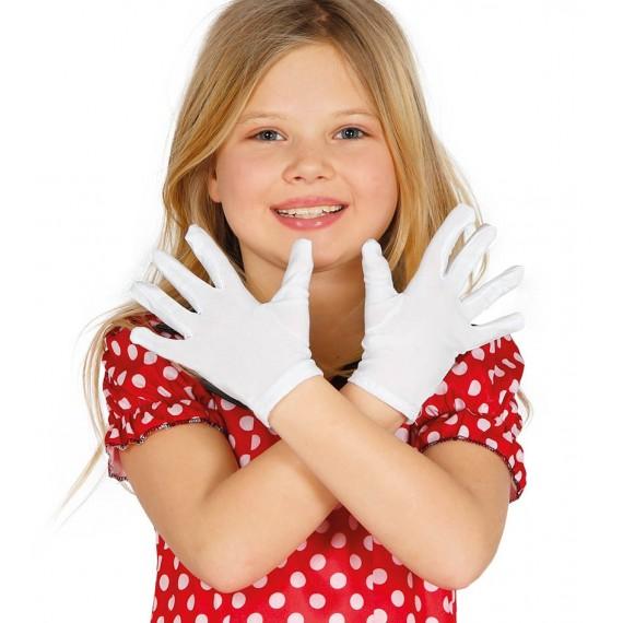Guantes de color Blanco de 19 Centímetros Infantil