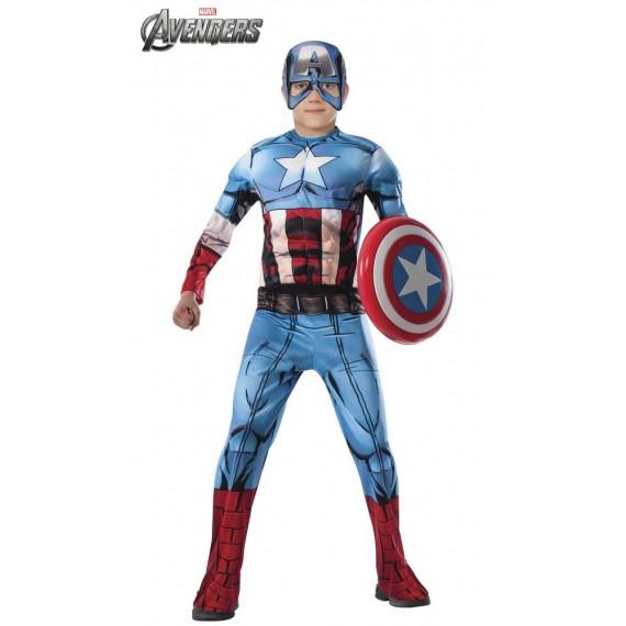 Disfraz de Capitán América Premium Infantil