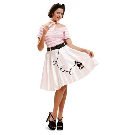 Disfraz de Pink Lady para Adulto