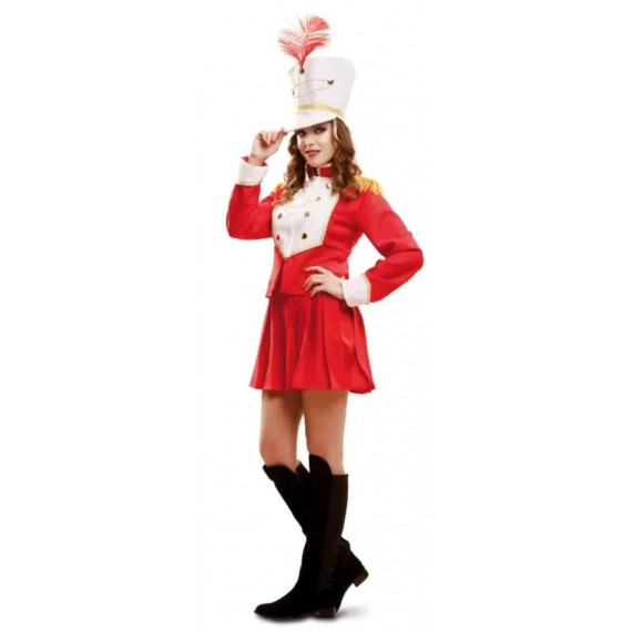 Disfraz de Majorette de color Rojo para Adulto