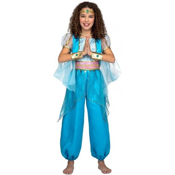 Disfraz de Princesa Árabe de color Turquesa Infantil