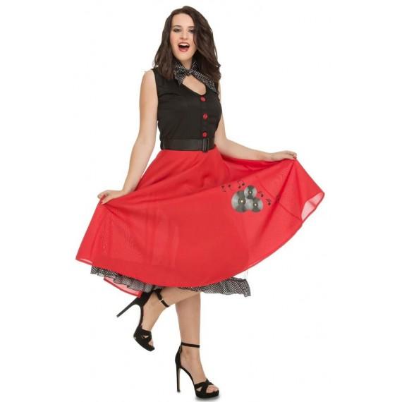 Disfraz de Chica Ye-Ye de los años 50s para Adulto