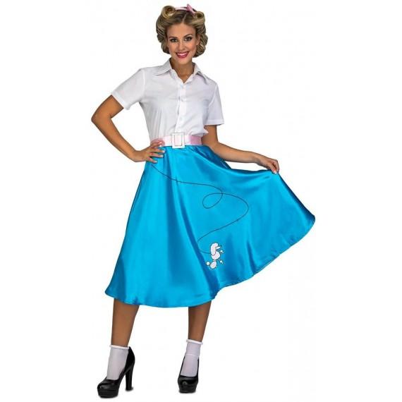 Disfraz de Pink Lady de color Azul para Adulto