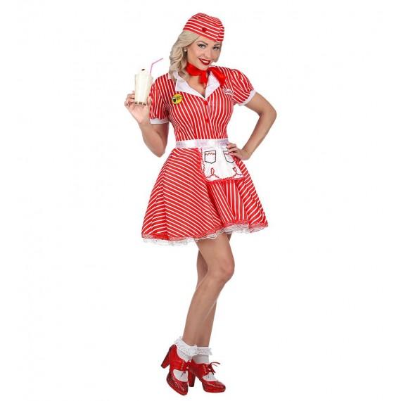 Disfraz de Camarera de los años 50s para Adulto