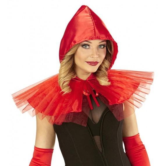 Capita con Capucha de color Rojo para Adulto