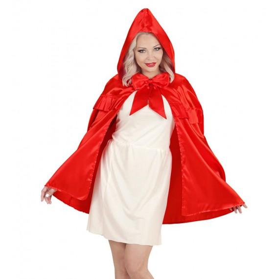 Capa con Capucha de color Rojo para Adulto