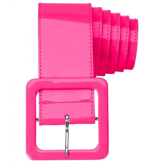 Cinturón de Vinilo de color Rosa para Adulto