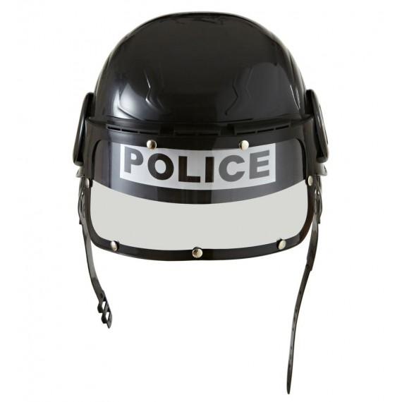 Casco de Policía de color Negro Infantil