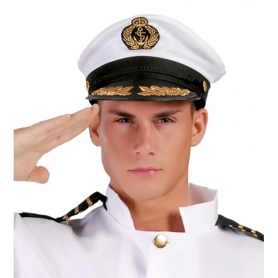 Gorra de Capitán de color Blanco para Adulto