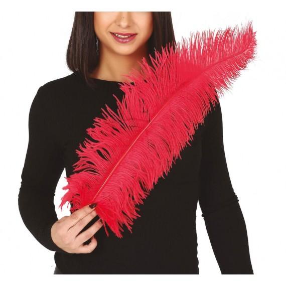 Pluma de Avestruz de 50 Centímetros de color Rojo