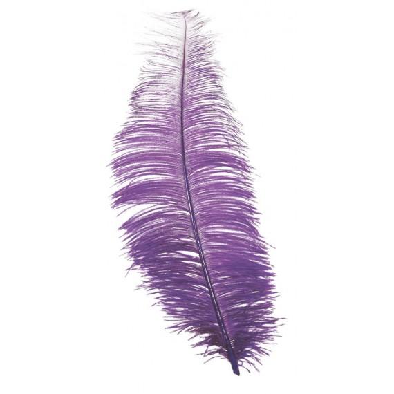 Pluma de Avestruz de 30 Centímetros de color Lila