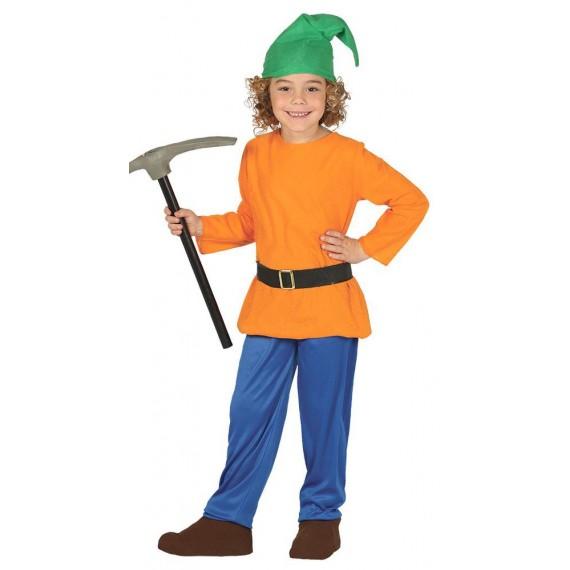 Disfraz de Enanito del Bosque de color Naranja Infantil