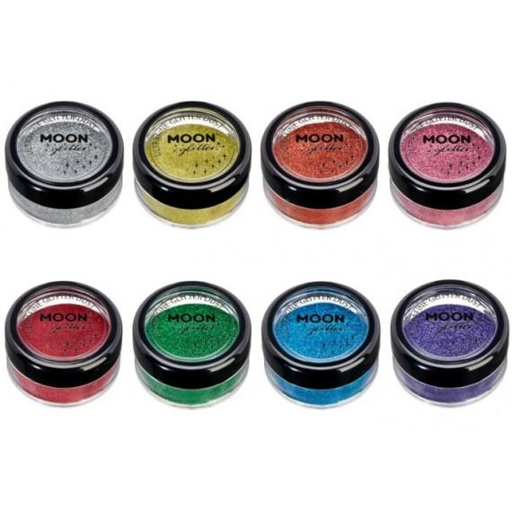 Purpurina Polvo UltraFina Moon Glitter Classic Ultrafine de 5 Gramos Color Clásico