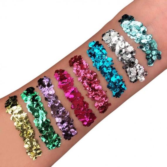 Purpurina Gruesa Biodegradable Moon Glitter Bio de 3 Gramos Varios Colores